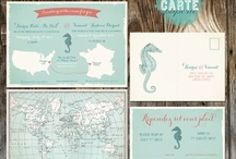 map-inspired wedding invitations