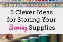Idée de placer accessoires de couture, tricot et dessein