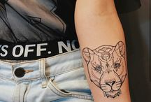 Leoparden und lowen tattoo