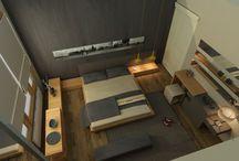 iç mimarlık yatak odası