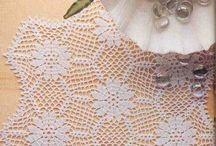 szydełkowe serwetki, crochet doilies