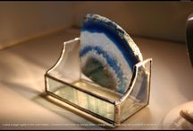Agate business card holders