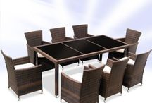 Outdoor Dining Set Garden Patio Furniture Table Chairs Rattan Cushion Large Big