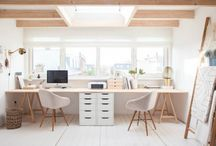 Embassy Ground Floor / Colour Palette - Gold & White 1) White & Light Oak Furniture