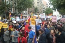 """#28SJaqueAlRey / Jaque al Rey: Miles de personas secundan en Madrid el """"Jaque al rey"""" en rechazo a la monarquía española."""