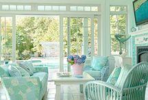 Decorating- aqua,teal, turquoise / decorating with turquoise, teal, aqua