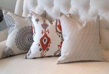 """Pillow Talk"" Creations by Lisa DiRocco / Custom Toss Cushions  / by Lisa DiRocco"
