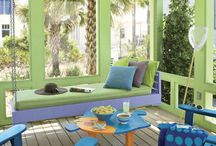 Outdoor spaces / My dreams of a colorful backyard