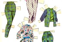 Celebrities and characters paper dolls