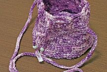 crochet bags, purse and cases
