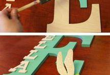 Поделки в форме букв
