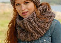 Pletení - šály, nákrčníky, šátky   (Knitting cowl, scarf) / Pletené šály, nákrčníky, kapucy, šátky