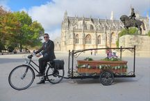 """Glam Power + """"Bicycle Hearse Service"""" / Work made in Batalha with Glam Power + """"Bicycle Hearse Service"""""""
