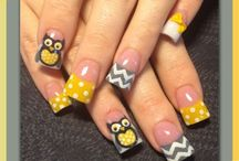 Рисунки совы для ногтей
