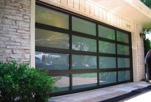 Modern Garage Doors / Everything from aluminum, glass and even wood.