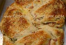 pão de azeitonas, frios e ervas