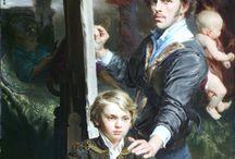 HANS LAAGLAND  ( Belgia ). Pictură / H,ANS LAAGLAND (Belgia), pictor contemporan care este captivat de lucrările lui Rubens, căutând în a- i stăpâni tehnicile de pictură, culorile folosite de acesta - după cum mărturisește. Impresionant este portretul acestui copil !