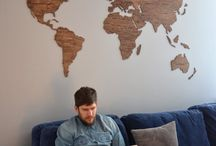 wood wall maps