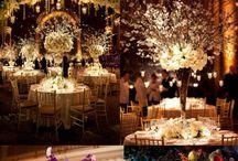 Esküvői asztal dísz
