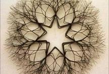 tied wire sculptures