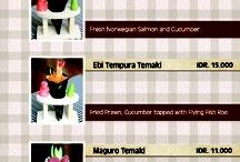 Sushi menu inspiration