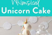 Gateau thème Licorne / unicorn cake