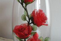Rosas de nilón