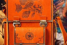 Men's handmade messenger bags with pyrography / Our products are aimed at powerful men – Dominators in all spheres of life. The outstanding feature of Dominator products is that their patterns are carved into the leather using a Pyrogravure technique hand crafted by professional artists.
