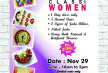 Poojadai Training Class For Women. / A one day training on Poo Jadai Making by Ms. Shanmuga Priya. Learn to make 5 round venis, 2 types of Jadai Billas, Netted Jada using both natural & artificial flowers in a day! Material cost included. Dont miss this opportunity!  Sign up for the class today by filling this form : https://goo.gl/forms/yGLGmReABvDndPcw2  Venue : Venue : 418, Senthil raja towers, 3rd floor,velan theatre bus stop, Opp Aadhi honda showroom, ganapathy, coimbatore. For details call - 9566951451 / 4214950