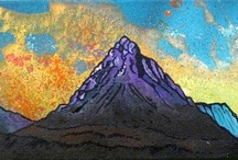 Glencoe Area, Scotland. Paintings & Prints Gallery / Paintings of Glencoe & surrounding area in mixed media ,spray paint, acrylic and oil paint by Scottish artist A Peutherer.