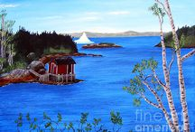 Iceberg Art / This board includes paintings and photographs of icebergs around our shores.