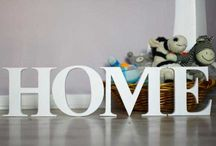 interior decoration with letters