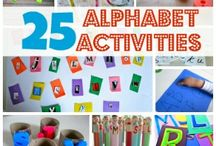 ALPHABET Activities / We've found these activities on Pinterest and from around the web to help your kids learn the (English) alphabet. Use these along with apps for the best learning experience.