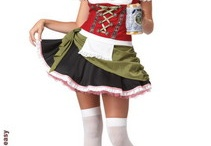 "Oktoberfest Costumes & Accessories / Celebrate Oktoberfest in German style. Men dress up in authentic Bavarian Costume or Peasent Costume and Ladies deck up as cute ""beer gardern girl"" or ""tavern girl"" to woo men at Oktoberfest party. Cheers to the Spirit of OKTOBERFEST! / by SpicyLegs.com - Lingerie Store"
