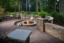 Ideas & Inspiration - Fire Features / Outdoor ideas for both fire pits, fire places, and other fire related exterior uses.