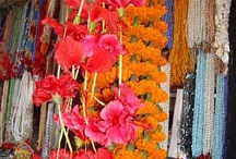 Indian wedding flowers / Garlands, bouquets, table centre pieces.