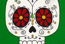Calaveras / Calaveras y esqueletos/ Skulls and skeletons/ Têtes de mort et squelettes
