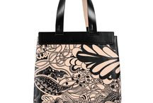 Universal Bag - Black Ivy / Women Leather Handbags, Limited Edition Designer Leather Bag COLOURS OF MY LIFE - Limited Edition wearable art signed by Anca Stefanescu.