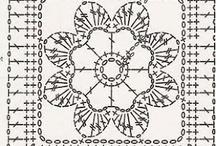 cuadrados y redondelas crochet