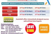 Attend LIVE Free Demo from AcuteSoft Online Training Solutions with Real Time scenarios.