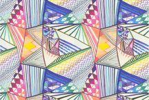 elementary art - pattern / by Laine Van