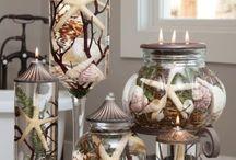 decoração com conchas marinha