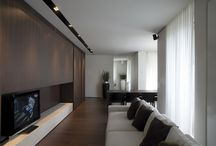 """NATURAL STONE AND CANALETTO WALNUT /  """"DOTTO"""" RESIDENCE"""