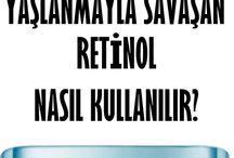 cilt gençleşmek için retinol oku