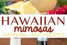 hawaian mimosas cocktail