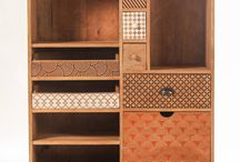 wood cabinet wth diffrent pattern of drawer that we can combine wth different weaving material