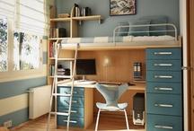 Home Deco blue bedroom