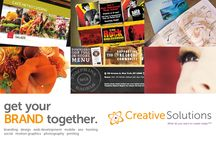 Creative Solutions / Creative Solutions, a boutique design studio has been helping companies succeed in building their brand since 2002.    With over a decade worth of experience and hard work, we are committed to helping startups and small businesses toward achieving their branding, marketing goals and financial success.  Check out some of our portfolio, news and promo pins here: