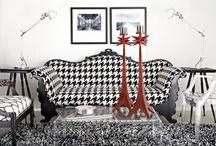 REFORMA DO SOFÁ / Vamos reformar um sofá de 3 lugares e duas poltronas para a nossa casa! Estampa escolhida: Pied poule ♥