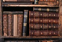Antique Books / Antique, leather bound books and those with beautiful bindings
